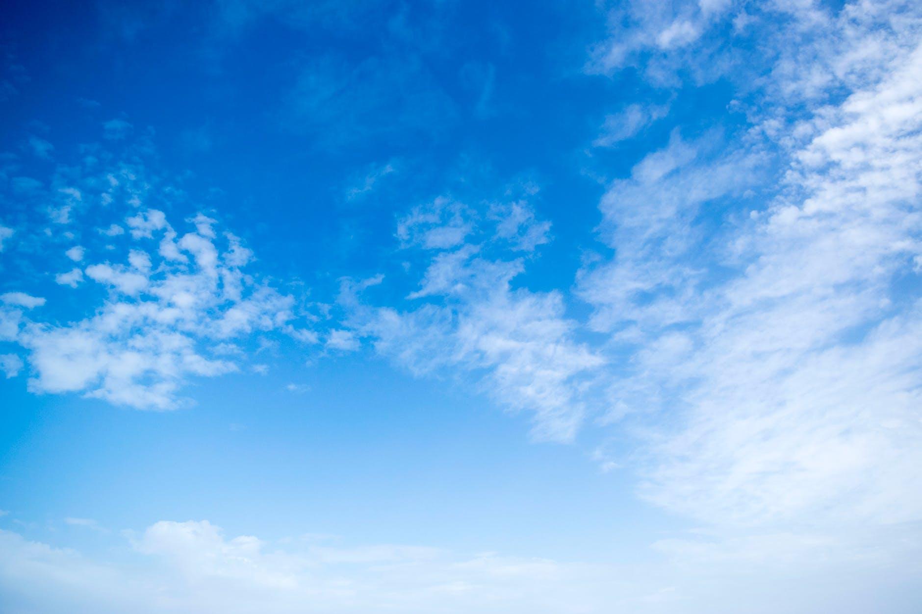 cel blau i nuvols
